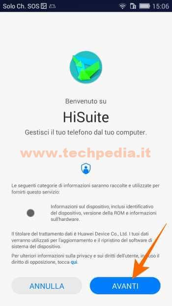 Collegare Huawei Computer Hisuite 552