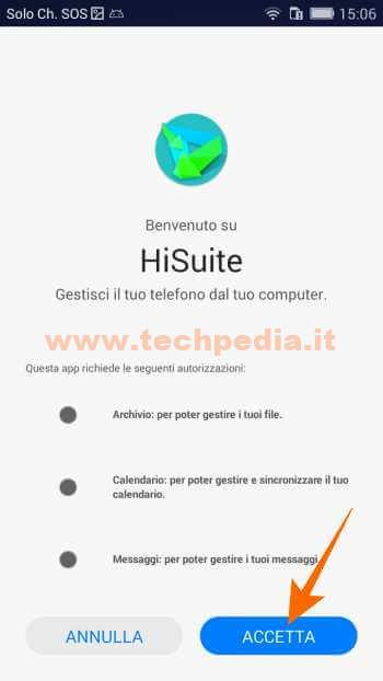 Collegare Huawei Computer Hisuite 555