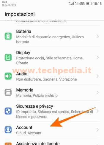 Disconnettere Account Google Android 007