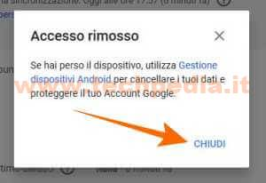 Disconnettere Account Google Android 034