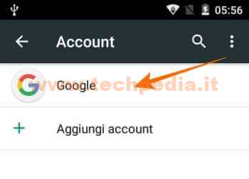 Disconnettere Account Google Android 043