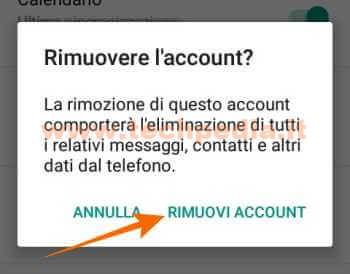 Disconnettere Account Google Android 052