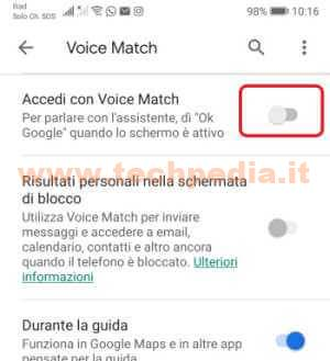 Google Assistant Registrazioni 046
