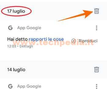 Google Assistant Registrazioni 093