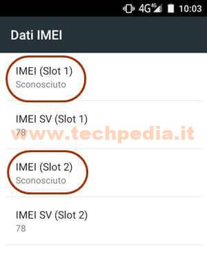 Inserire Imei Smartphone Android 010