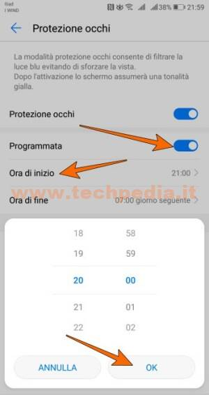 Proteggere Occhi Luce Blu Android 016