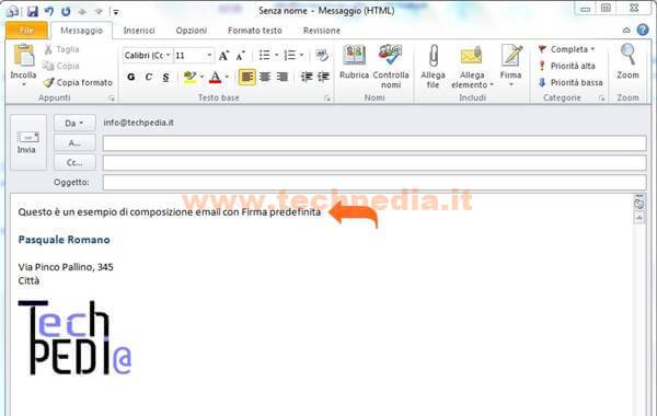 Outlook Firma Automatica Email 031