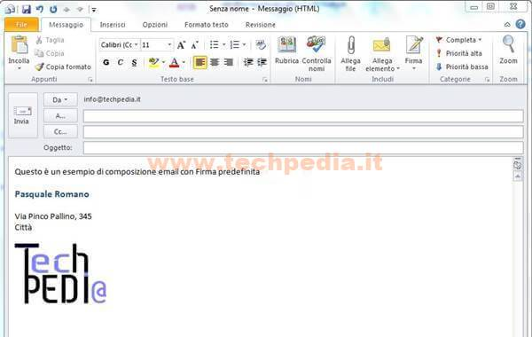 Outlook Firma Automatica Email 058