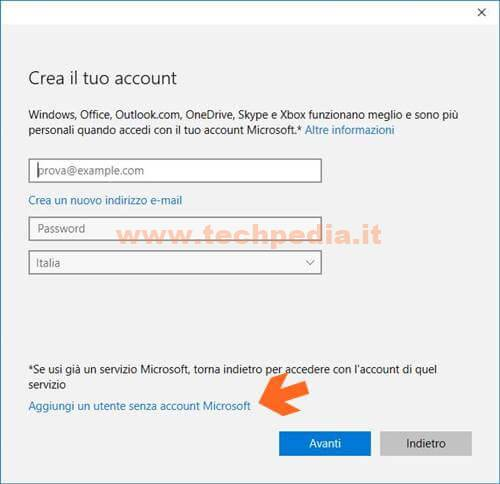 Creare Account Windows 10 018