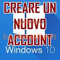 Creare Account Windows 10 LOGO
