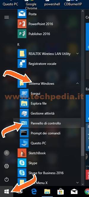 Aprire Pannello Di Controllo Windows 10 010
