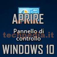Aprire Pannello Di Controllo Windows 10 LOGO