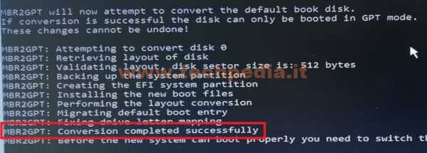 Conversione Disco Da Mbr A Gpt Per Uefi Windows 10 049