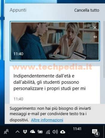 Cronologia Appunti Windows 10 022