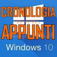 Cronologia Appunti Windows 10 LOGO