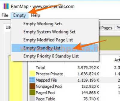 Liberare Ram Windows 10 Con Rammap 034