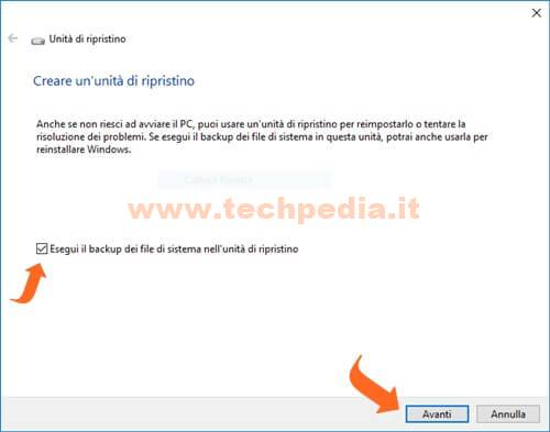 Creare Unita Rirpistino Windows 10 007