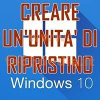 Creare Unita Rirpistino Windows 10 LOGO