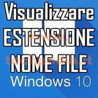Visualizzare Estensione Nome File Windows 10 LOGO
