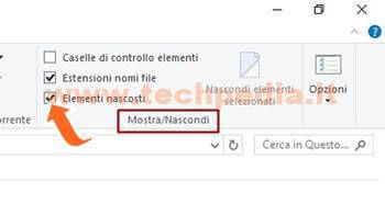 Visualizzare File Nascosti Windows 10 010