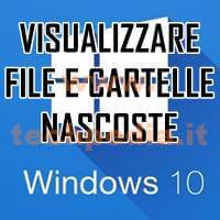Visualizzare File Nascosti Windows 10 LOGO