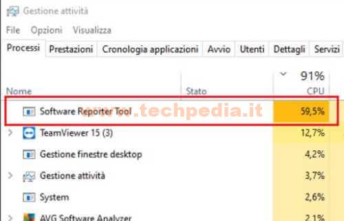 Disabilitare Software Reporter Tool Google 007