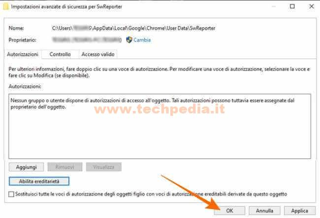 Disabilitare Software Reporter Tool Google 022