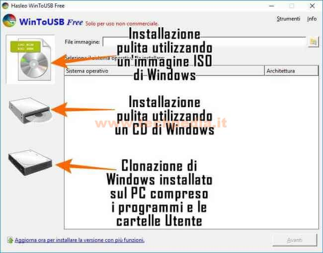 Clonare Installare Windows Su Pendrive Disco Usb Wintousb 055