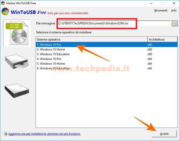 Clonare Installare Windows Su Pendrive Disco Usb Wintousb 064