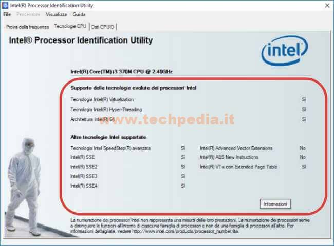 Conoscere Cpu Intel Con Processor Identification Utility 040