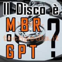 Conoscere Formato Disco Mbr O Gpt Con Windows LOGO