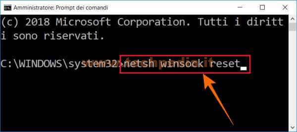 Resettare Rete Lan Windows 013