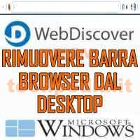 Rimuovere Barra Browser Fissa Desktop Windows Webdiscover LOGO