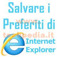 Salvare Preferiti Internet Explorer LOGO