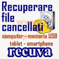 Recuperare File Cancellati Con Recuva Windows LOGO